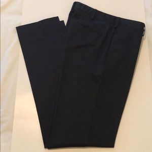 Lands End Tailored Fit Black Chino Pants